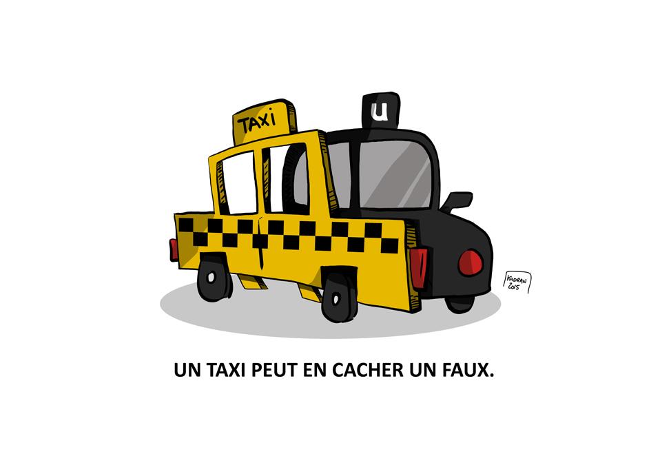 Jean-Nicolas Guillemette, Uber Vs taxi