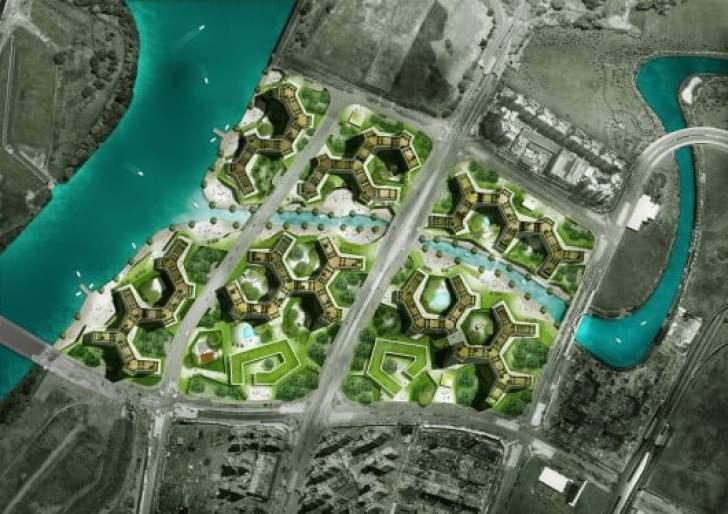 Verdant urban oasis master plan for housing development for Waterway terrace 2