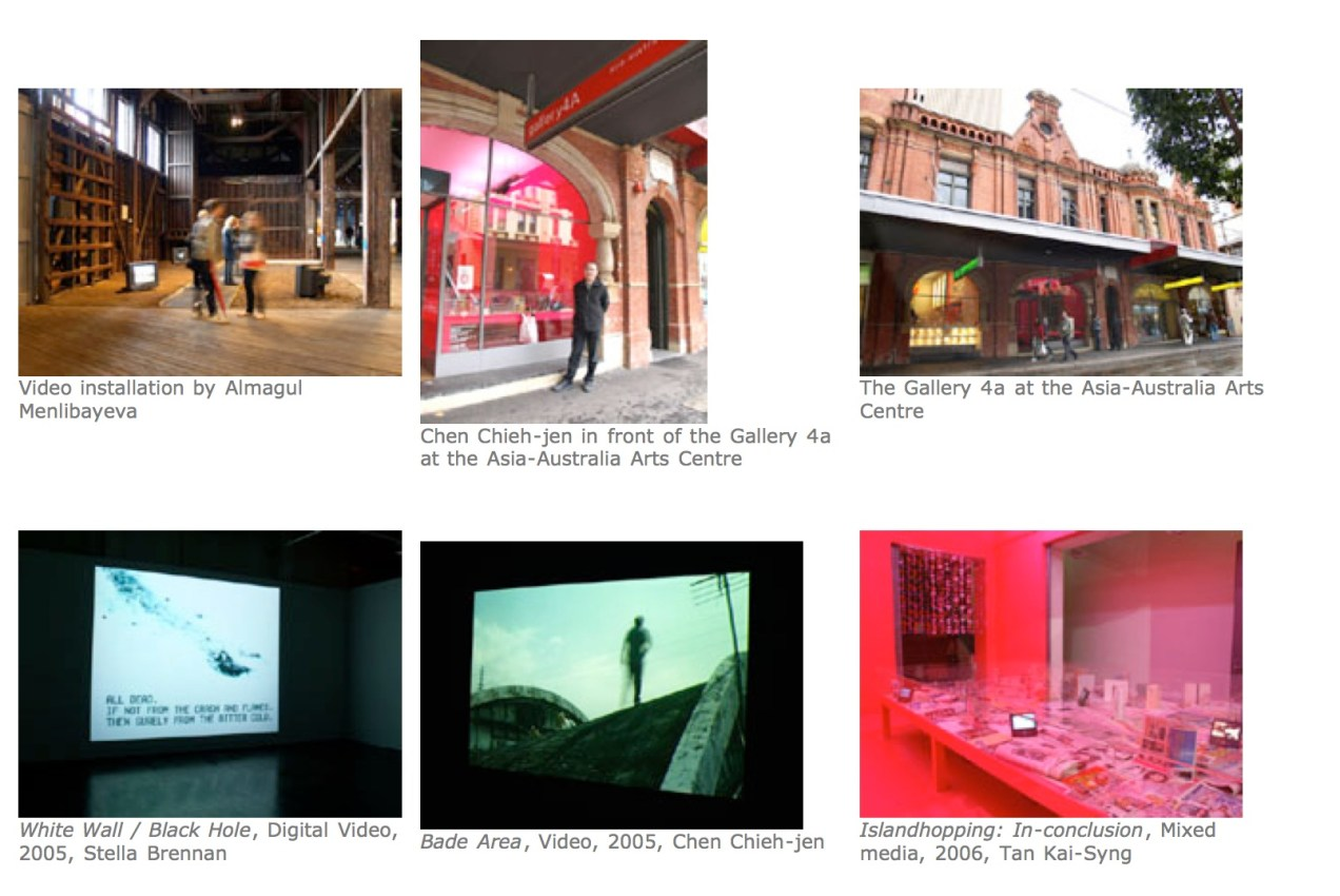 2009: Asian Art Archive website featuring the GREAT Taiwanese artist Chen Chieh-Jen who was also exhibiting in the same space. What an honour for Kai. She  met him again the the Guangzhou Triennale 2008.