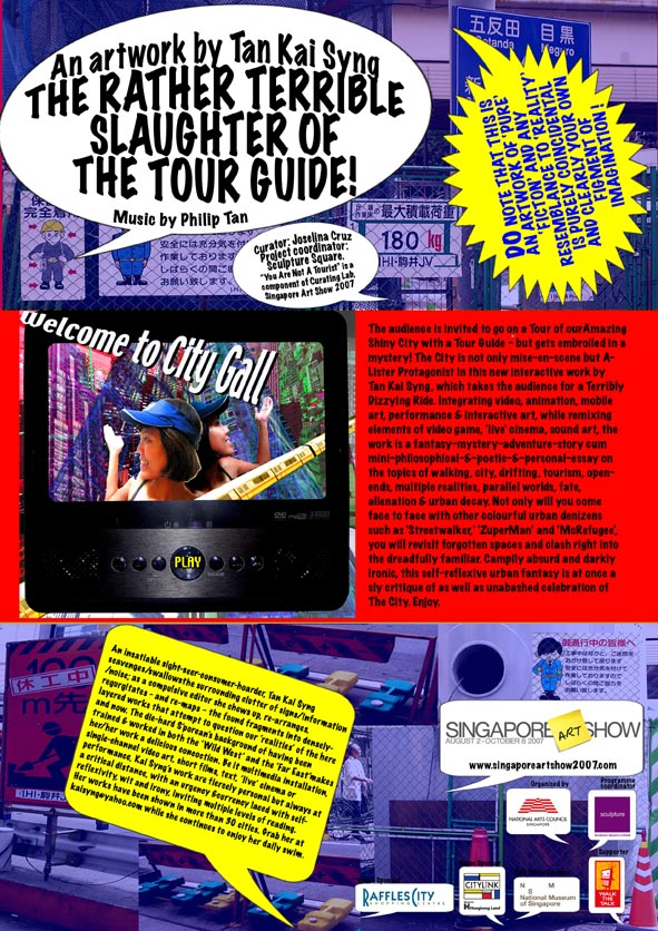 2007: Kai's leaflet distributed to people after the end of the tour / after the tour guide dies.