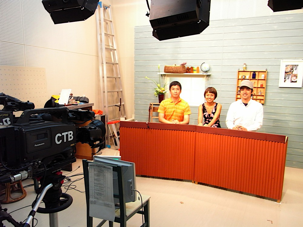 2009: On live TV in Beppu to talk (in Kai's rusty Japanese) about her Japan Foundation-sponsored artist-in-residency.