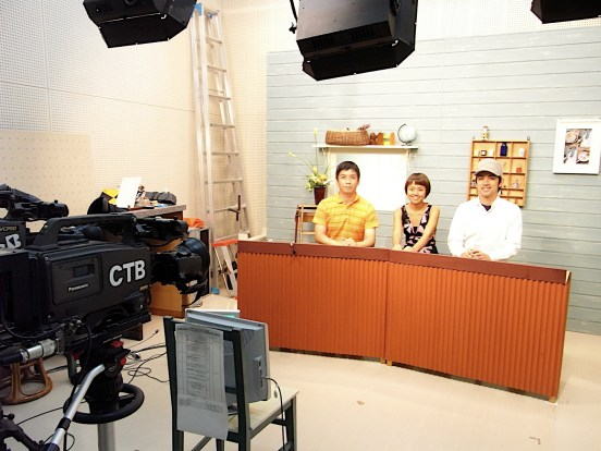 2009: On 'live' TV in Beppu to talk (in my rusty Japanese) about my Japan Foundation-sponsored artist-in-residency.