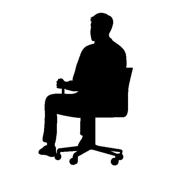 背筋を伸ばした座り方