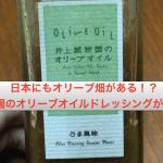 日本にもオリーブ畑がある!?井上誠耕園のオリーブオイルドレッシングが美味しい!