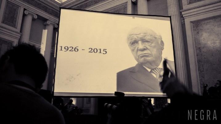 Acto en memoria del periodista Julio Scherer en la FILPM. Foto: Samuel Segura.