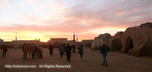 Star Wars film exterior location in Sahara Desert in Tunisia