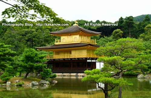 Kinkakuji has exquisite and beautiful Japanese garden. Japan, Kyoto, summer vacation. Photo by KaKa.