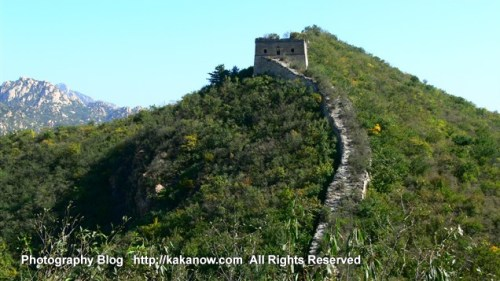 This is an unrepaired original Great Wall at Beijing suburb, China travel. Photo by KaKa.
