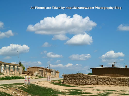 China travel, Inner Mongolia, Horqin prairie, village. Photo by KaKa.
