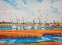 """Shrimp Boats"" by John Winfrey"