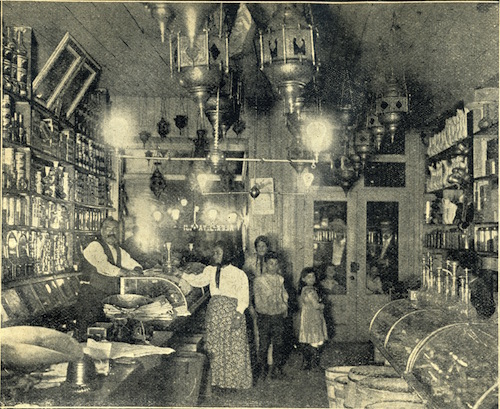 Alexander Yazaji's grocery store at 53 Washington in 1899.