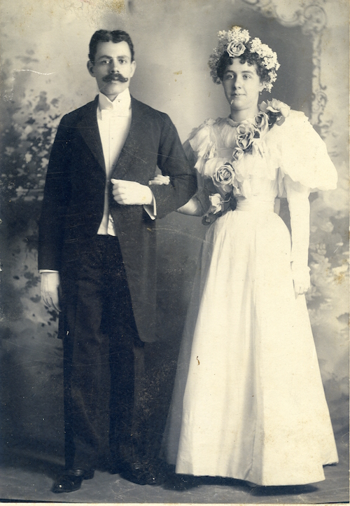 Wedding of Joseph Oussani and Margaret Shea. New York, 1896.