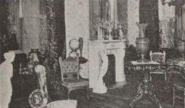 Interior of Abdelnour home on Staten Island, 1902.