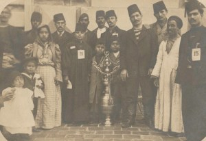 Middle Eastern Immigrants arriving from Egypt, ca. 1903. Some may be Syrians.
