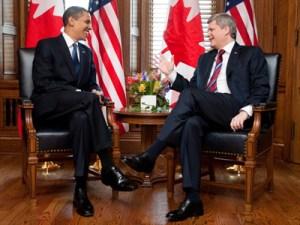 Barack Obama és Stephen Harper a Parlamentben
