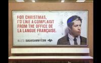 A törvénytelen reklám egy Montreáli metróállomáson.