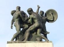Trieszti szobor csoport.