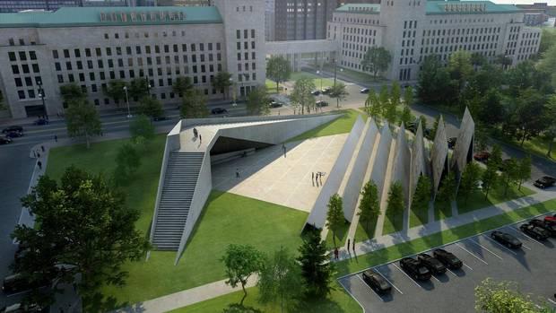 A tervezett 3 millió dolláros antikommunista emlékpark Ottawa belvárosában.