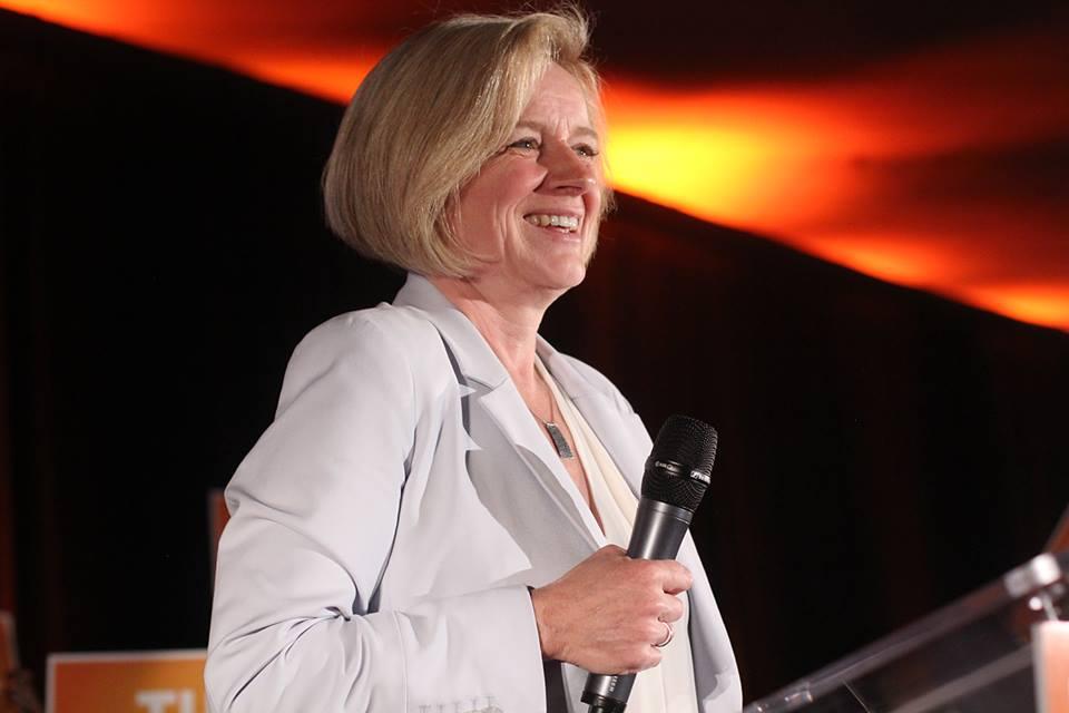 Rachel Notley, a keményen baloldali NDP vezetője lett Alberta tartomány új kormányfője.