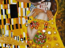 GustavKlimt: A csók.