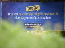 Népszavazási propaganda. Fotó: MTI.
