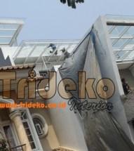 Proyek Canopy Kaca Tempered Clear Cengkareng