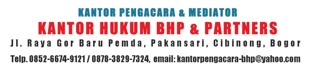 Kantor Pengacara di Jakarta (Pengacara BHP & Partners)