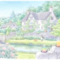 イギリス湖水地方水彩画