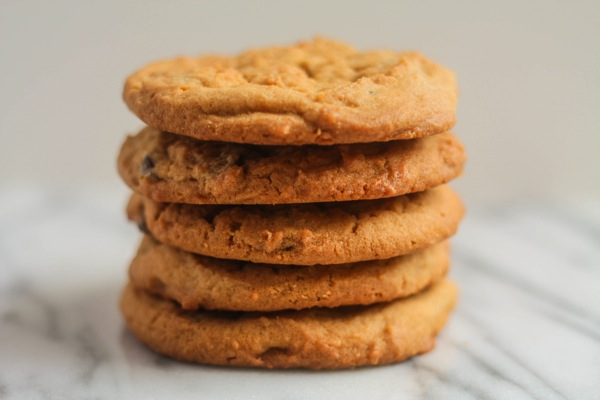 Peanut Butter Chocolate Chip Cookies  - karainthekitchen.com