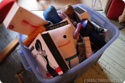 bin of sex toy fails