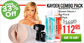 Kayden Kross Fleshlight Black Friday Combo Pack