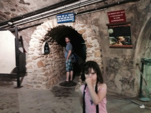 We used our pass to enter the Sewer Museum, physically located in the sewers. It stank.