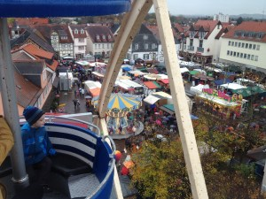 Ferris wheel view of the Marktplatz