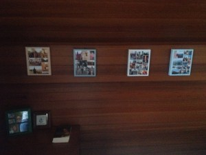 Snapfish and Shutterfly collage photo canvases, tabletop frame