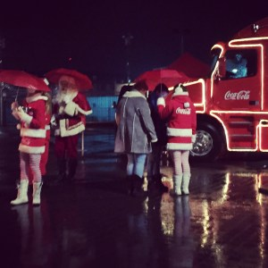 coke coca-cola santa christmas truck