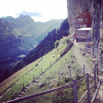 swiss aescherposcht hotel appenzellerland cliffside alps