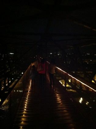 bilbao vizcaya bridge at night