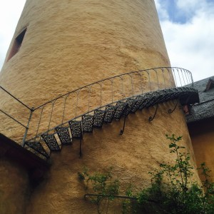 The tower.  Those steps lead to a guest room!