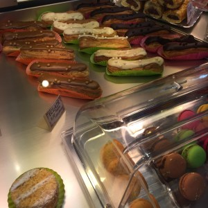 You can't go to France without indulging on sweets like eclairs!