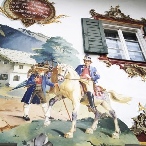 I'll miss the gorgeous paintings on the sides of houses and buildings in Bavaria.
