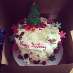 xmas birthday cake 40