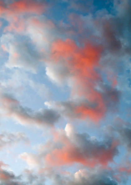 'Balad Sky' From a series of collected jpegs from the World Wide Web, originally taken by soldiers in Afghanistan and Iraq ///Text