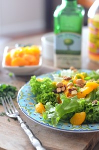 Winter Greens with Mandarins and Italian Parsley Vinaigrette vertical