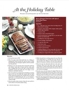 Bacon Wrapped Pork Loin in Western Horse and Gun Magazine Holiday Issue