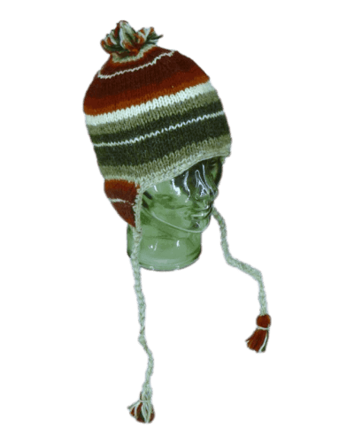 Red stripey knitted winter hat| Karma Gear