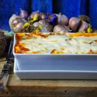 Zapiekanka makaronowa z kurczakiem, szpinakiem i grzybami / Chicken, mushroom and spinach pasta bake