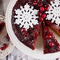 Odwrócony piernik z żurawiną i gruszkami / Cranberry pear upside-down gingerbread