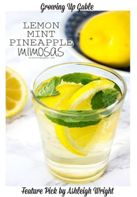 Lemon-Mint-Pineapple-Mimosa-Drink-Recipe
