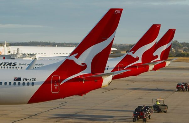 Qantas tails