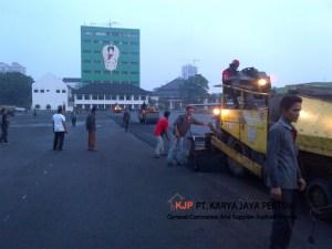 Pengaspalan hotmix Mabes TNI AD Juanda Jakarta PT karya jaya pertiwi Jasa pengaspalan jalan raya tol area lingkungan perumahan mall hotel perkantoran